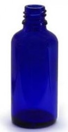 Packs of Blue Glass Bottles Size 50ml with caps