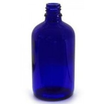 Packs of Blue Glass Bottles Size 100ml with caps