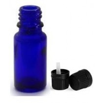 Packs of Blue Glass Bottles Size 5ml with caps